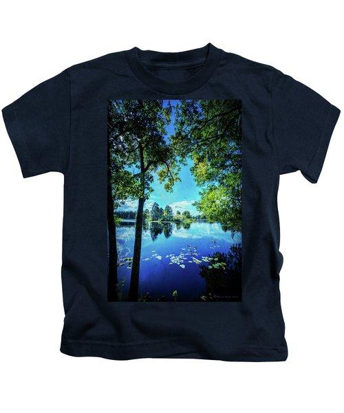 A Line Of Blue Kids T-Shirt