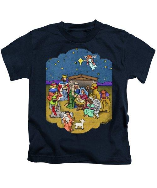 A Nativity Scene Kids T-Shirt