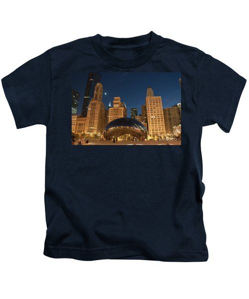 A View From Millenium Park At Night Kids T-Shirt