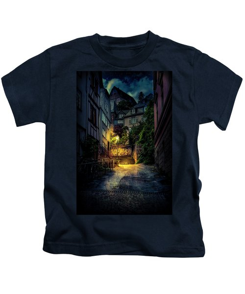 A Wet Evening In Marburg Kids T-Shirt