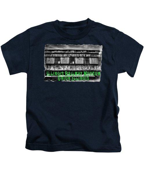 Abandoned Circus Transport Car Kids T-Shirt by Roger Passman