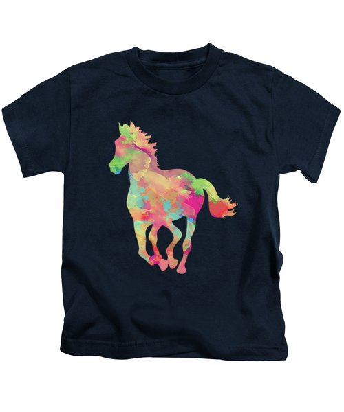 Abstract Horse Kids T-Shirt by Amir Faysal