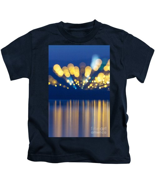 Abstract Light Texture With Mirroring Effect Kids T-Shirt