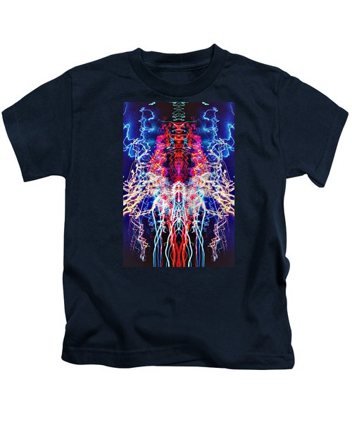 Abstract Lightpainting Oil Style Unique Poster Image Kids T-Shirt