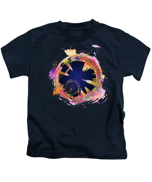 Abstract London Skyline At Night Kids T-Shirt