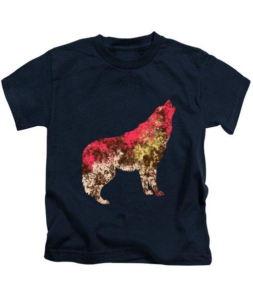 Abstract Wolf  Kids T-Shirt