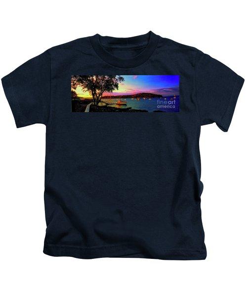 Acadia Bar Harbor Sunset Cruises.tif Kids T-Shirt