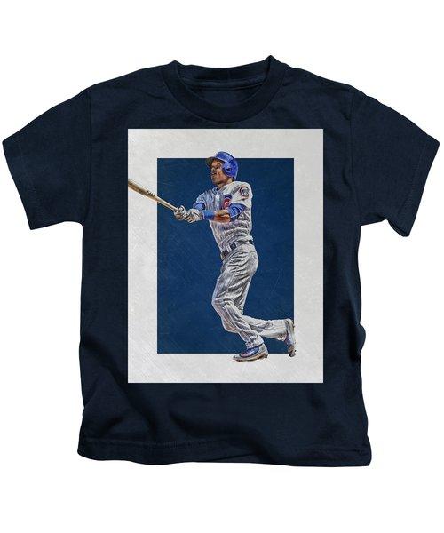 Addison Russell Chicago Cubs Art Kids T-Shirt