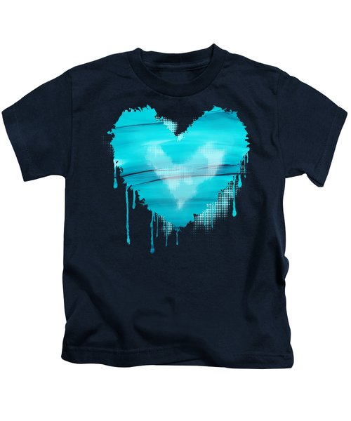 Adrift In A Sea Of Blues Abstract Kids T-Shirt