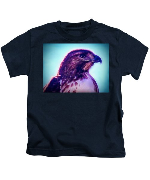 Ak-chin Red-tailed Hawk Portrait Kids T-Shirt