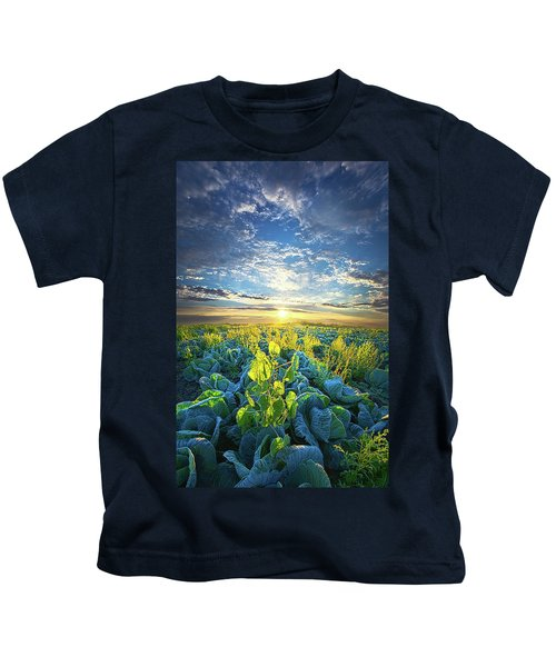 All Joined As One Kids T-Shirt by Phil Koch