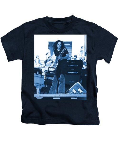 Allen Collins In Blue Oakland 1975 Kids T-Shirt