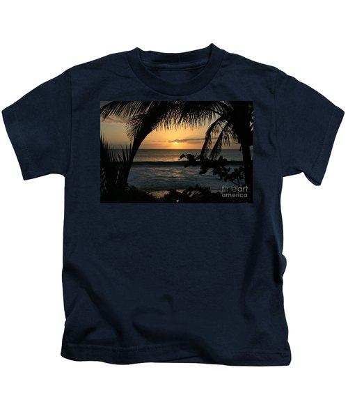 Aloha Aina The Beloved Land - Sunset Kamaole Beach Kihei Maui Hawaii Kids T-Shirt
