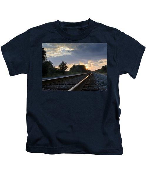 Amtrak Railroad System Kids T-Shirt