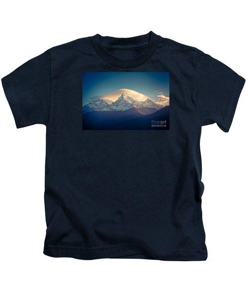 Annapurna Sunrise Himalayas Mountain Artmif Kids T-Shirt