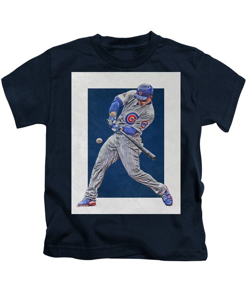 Anthony Rizzo Chicago Cubs Art 1 Kids T-Shirt
