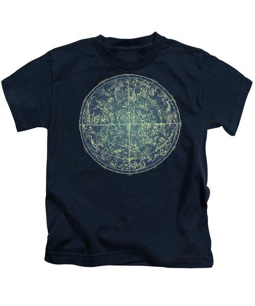 Antique Constellation Of Northern Stars 19th Century Astronomy Kids T-Shirt