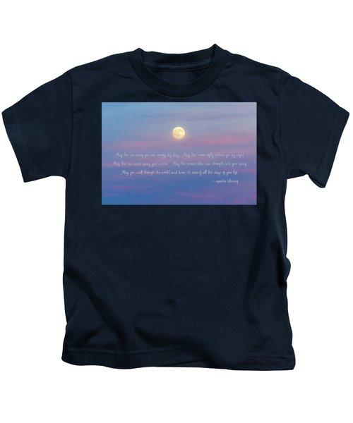 Apache Blessing Harvest Moon 2016 Kids T-Shirt