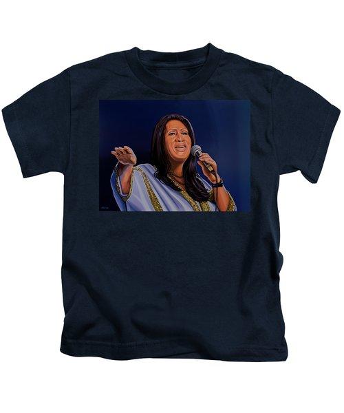 Aretha Franklin Painting Kids T-Shirt