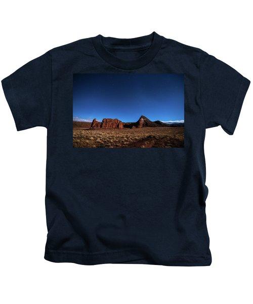 Arizona Landscape At Night Kids T-Shirt