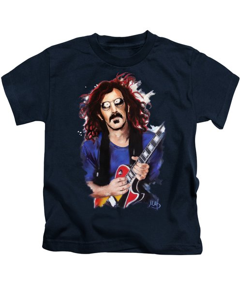 Frank Zappa Kids T-Shirt by Melanie D