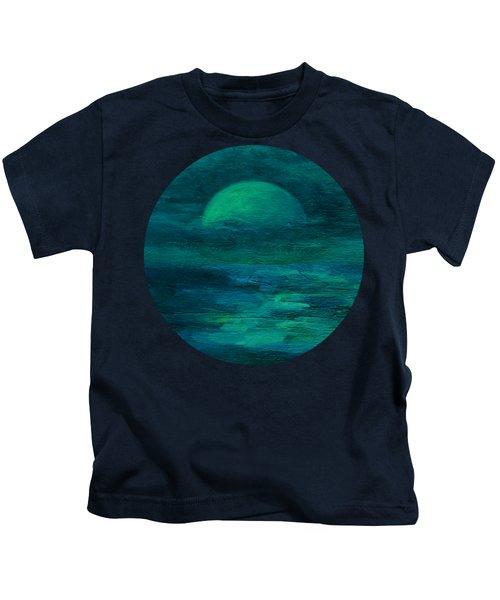 Moonlight On The Water Kids T-Shirt