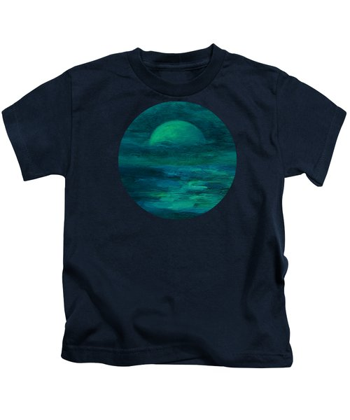 Moonlight On The Water Kids T-Shirt