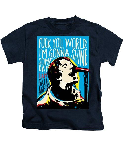 Liam Gallagher Quote Portrait Kids T-Shirt