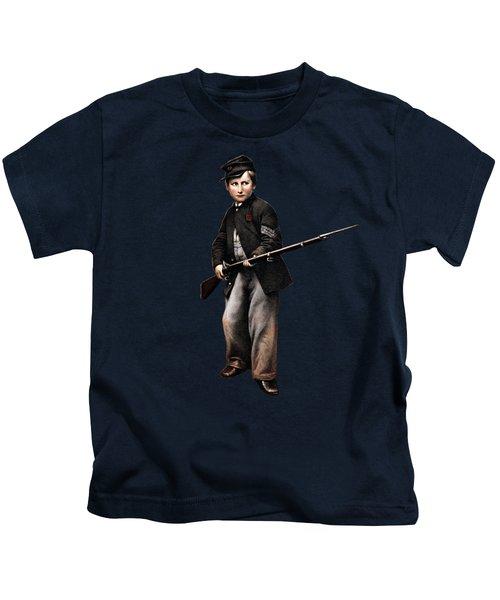 Union Drummer Boy John Clem Kids T-Shirt