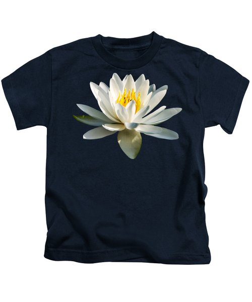 White Water Lily Kids T-Shirt by Christina Rollo