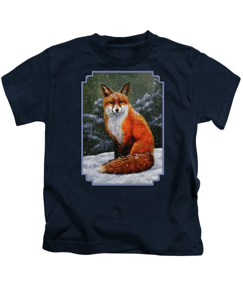Snow Fox Kids T-Shirt