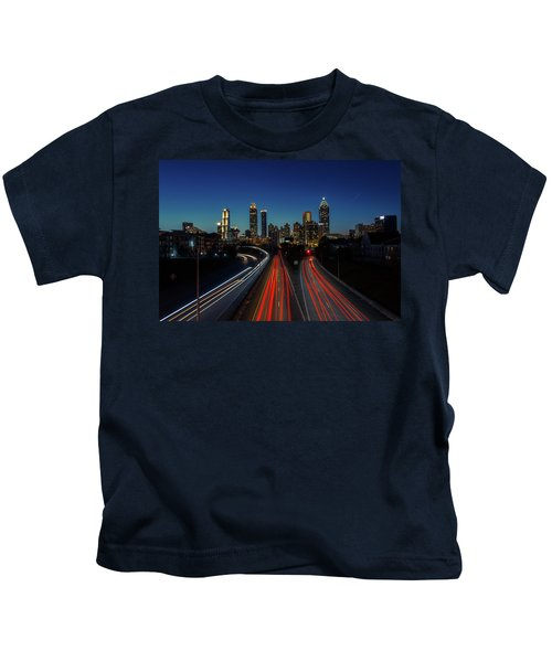 Atlanta Skyline 1 Kids T-Shirt