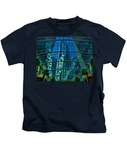 Atrium Gm Building Detroit Kids T-Shirt