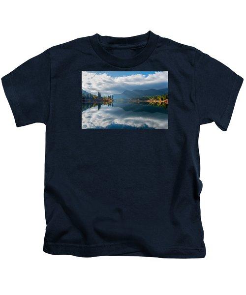 Autumn Along The Pend Oreille River Kids T-Shirt