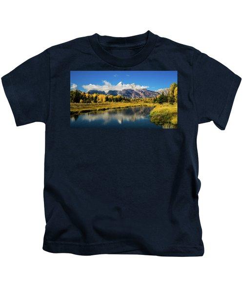 Autumn At Schwabacher's Landing Kids T-Shirt