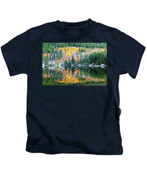 Autumn Mirror At Bear Lake Kids T-Shirt