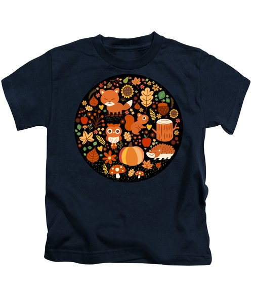 Autumn Party For Forest Friends Kids T-Shirt