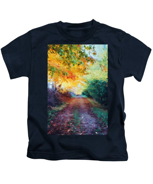 Autumn Road Kids T-Shirt