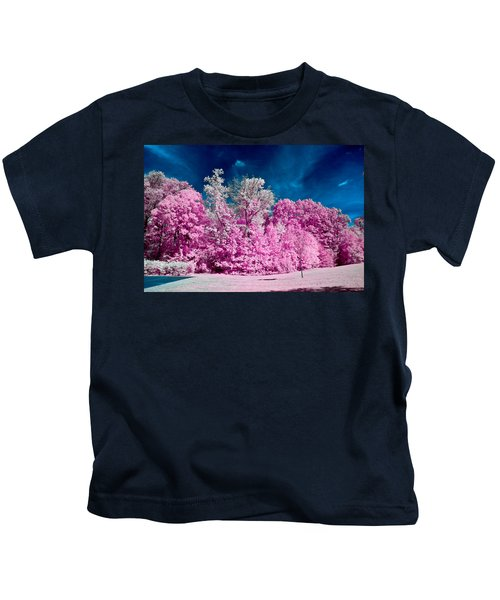 Autumn Trees In Infrared Kids T-Shirt