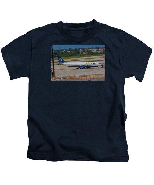 Azul Barzillian Airline Kids T-Shirt