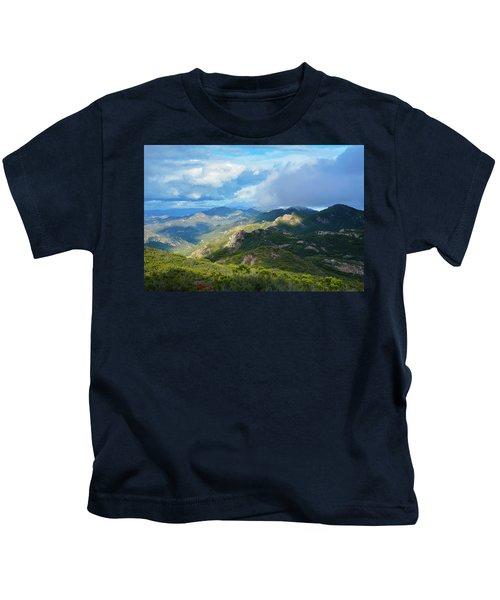 Backbone Trail Santa Monica Mountains Kids T-Shirt