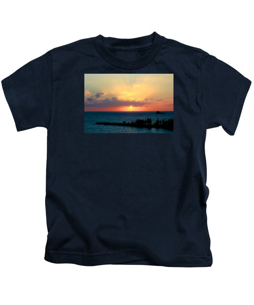 Bahamas Sunset Kids T-Shirt