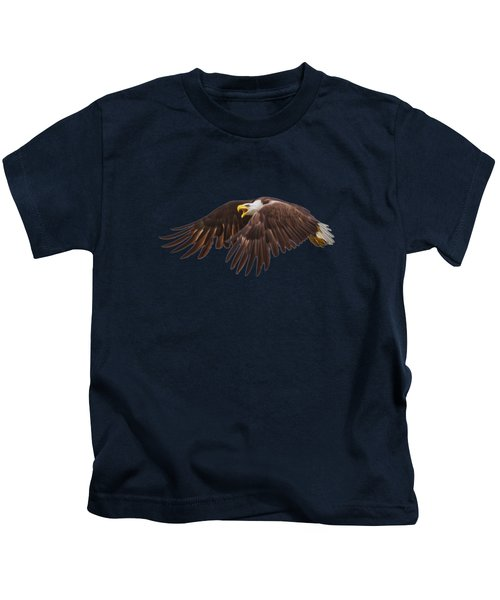 Bald Eagle  Kids T-Shirt by Mark Andrew Thomas