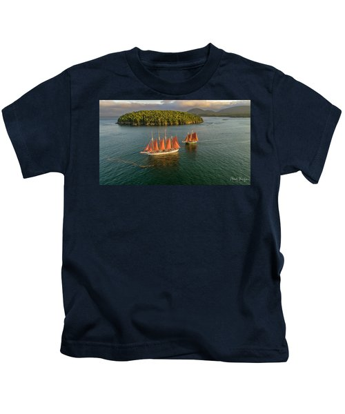 Sailing Thru Life The Downeast Way Kids T-Shirt
