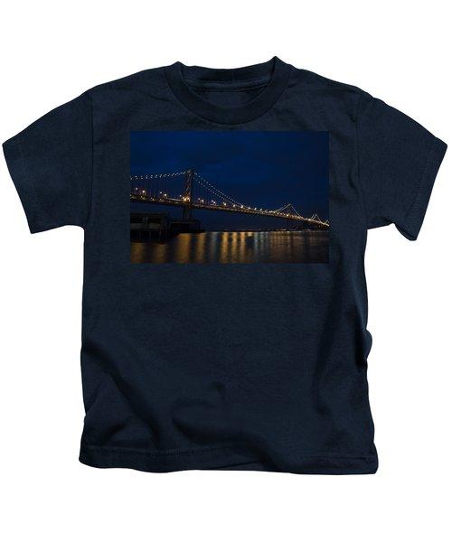 Bay Bridge At Night Kids T-Shirt
