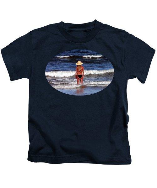 Beach Blonde .png Kids T-Shirt