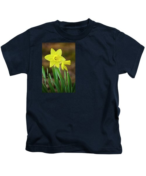 Beautiful Daffodil Flower Kids T-Shirt