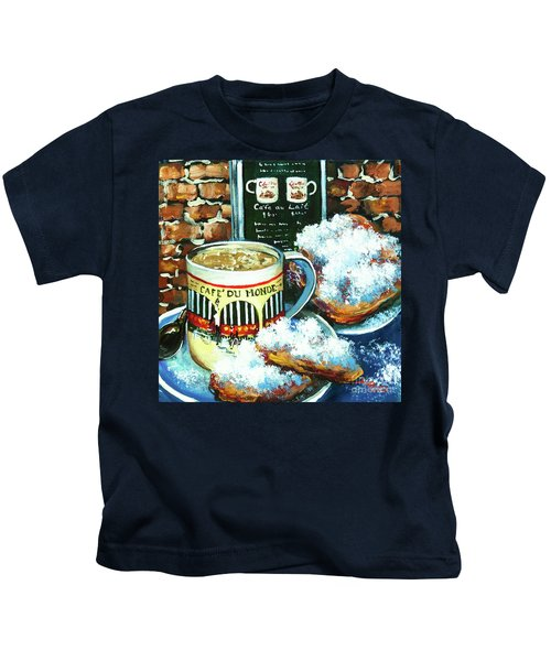 Beignets And Cafe Au Lait Kids T-Shirt