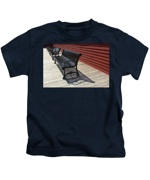 Bench Lines And Shadows 0841 Kids T-Shirt