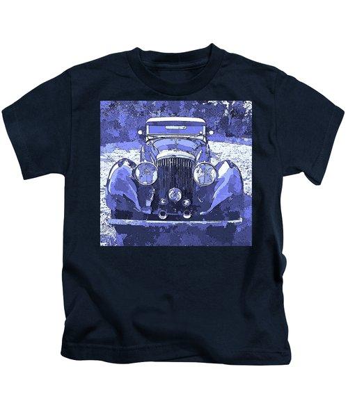 Bentley Blue Pop Art P2 Kids T-Shirt